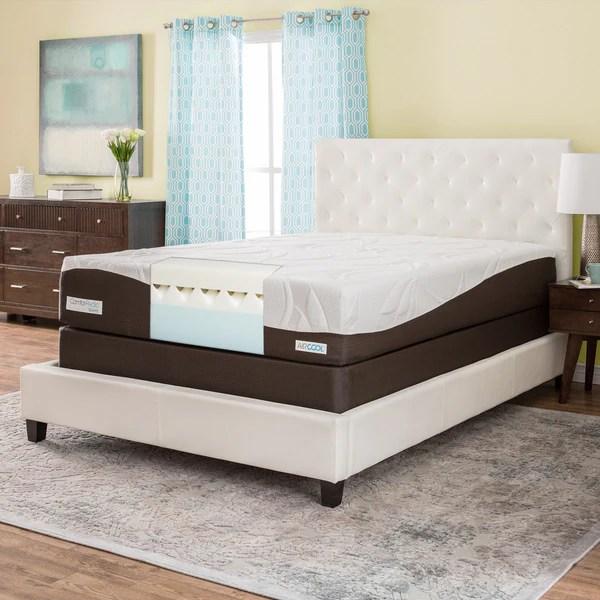 Comforpedic From Beautyrest 12 Inch Queen Size Gel Memory Foam Mattress Set
