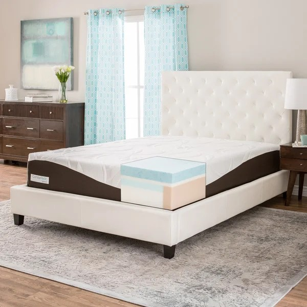 Comforpedic From Beautyrest 12 Inch Queen Size Gel Memory Foam Mattress