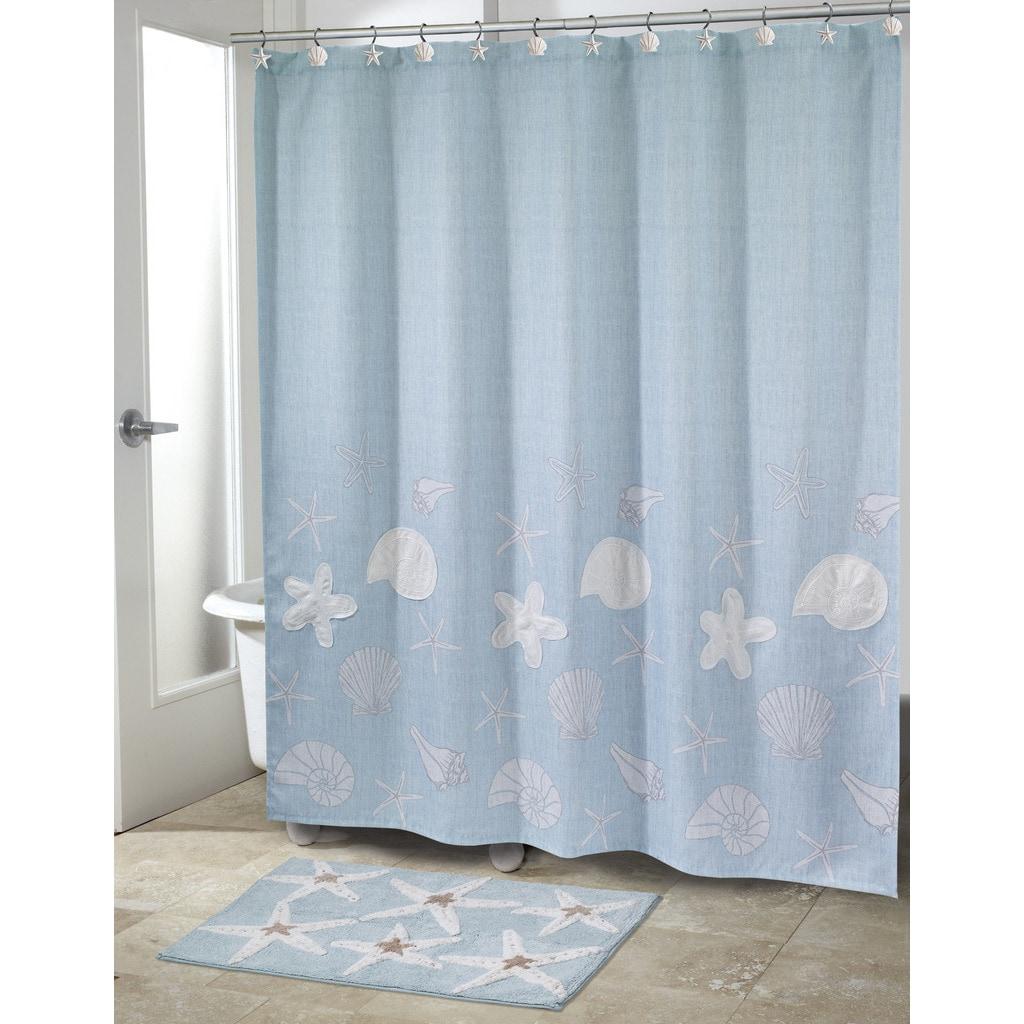 sequin shells shower curtain