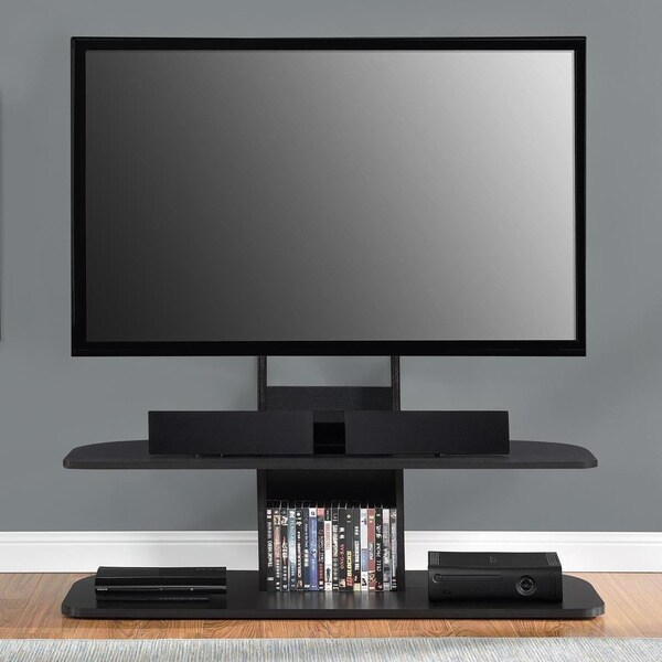 Ameriwood Home Galaxy 65 Inch Black TV Stand With Mount