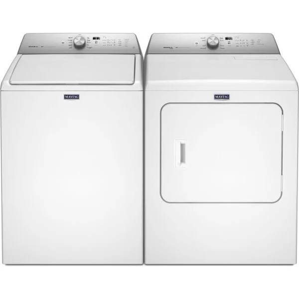 Shop Maytag Bravos Xl Series Top Load Washer And Electric Dryer Pair Overstock 10406241