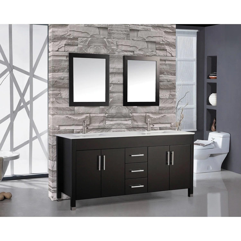 Shop Black Friday Deals On Mtd Vanities Monaco 72 Inch Double Sink Bathroom Vanity Set Overstock 10410723
