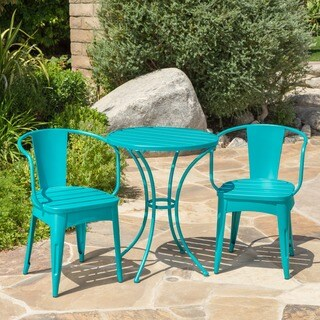 Buy Outdoor Bistro Sets Online at Overstock com   Our Best Patio     Colmar Outdoor 3 piece Bistro Set by Christopher Knight Home