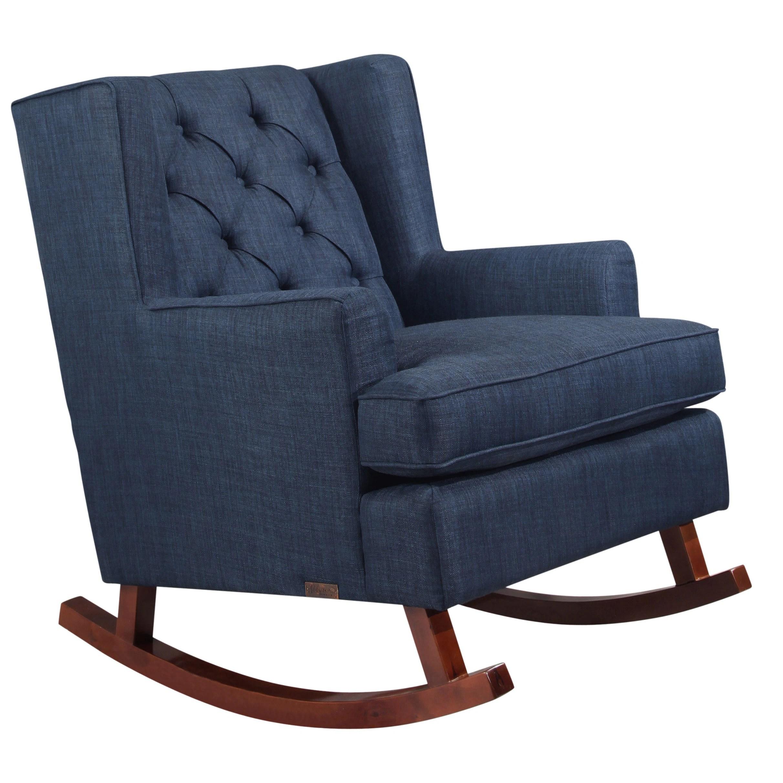 Abbyson Thatcher Fabric Rocker Chair On Sale Overstock 10562454 Beige