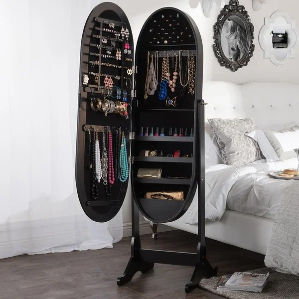 Shop Baxton Studio Apache Black Finished Wood Oval Shaped