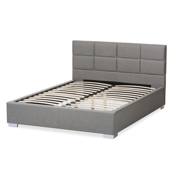 Baxton Studio Sophie Modern And Contemporary Grey Fabric Upholstered Platform Bed Free Shipping Today 17673886