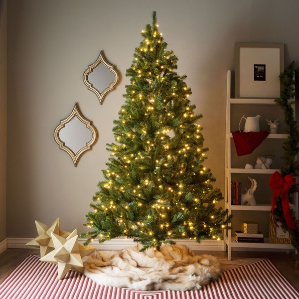 Shop 7 Foot Pre Lit Artificial Christmas Tree WClear Or