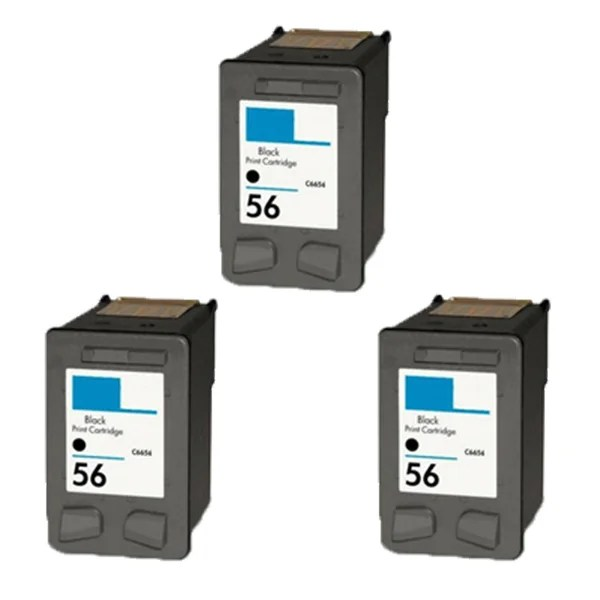 Shop 3pk Hp C6656 Hp 56 Compatible Ink Cartridge For Hp