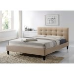Luxeo Hermosa King Size Tufted Beige Contemporary Bed