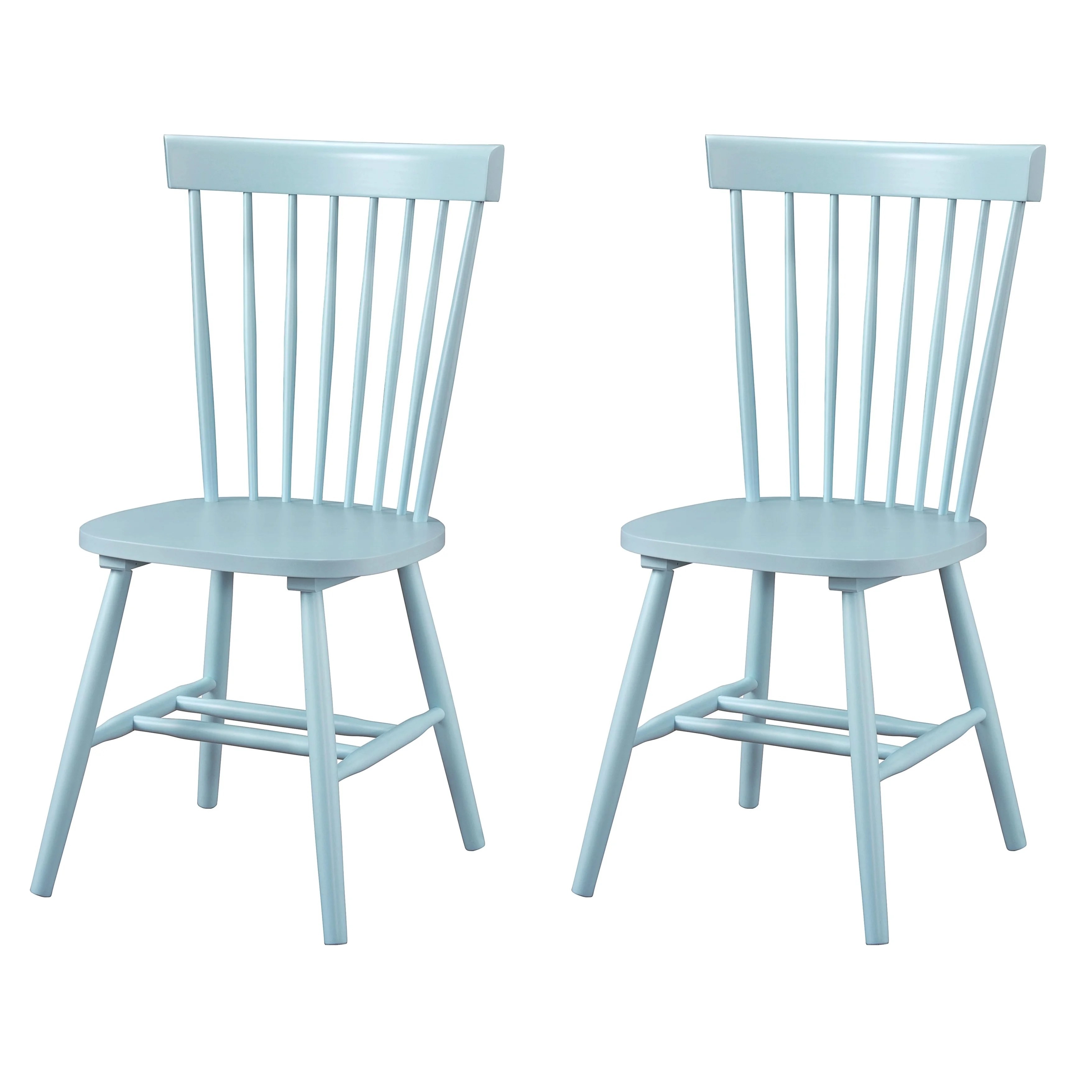 Dunner Danish Design Spindle Back Light Blue Dining Chairs Set Of 2 Overstock 10650180