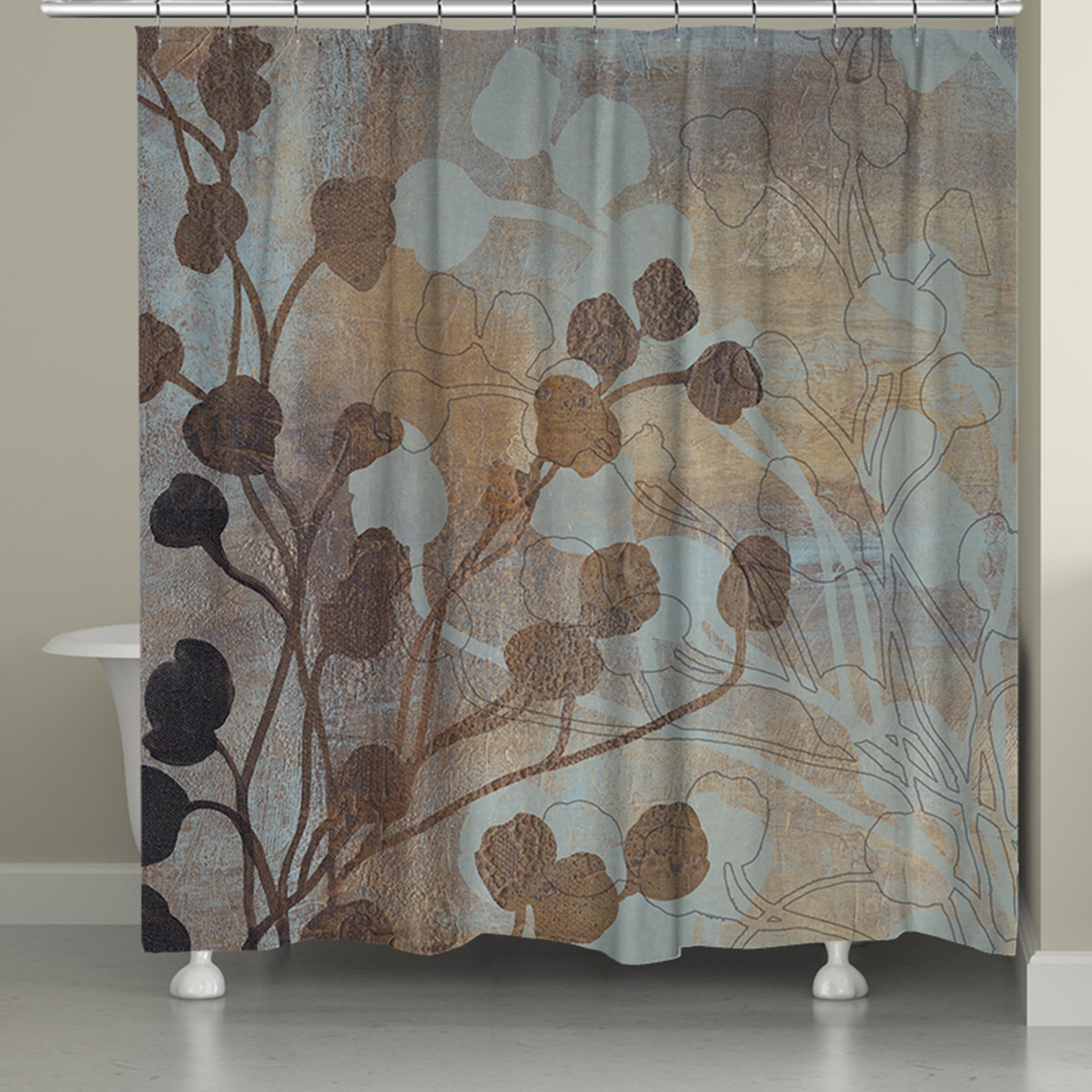 laural home bronze gold spa shower curtain 71 inch x 74 inch