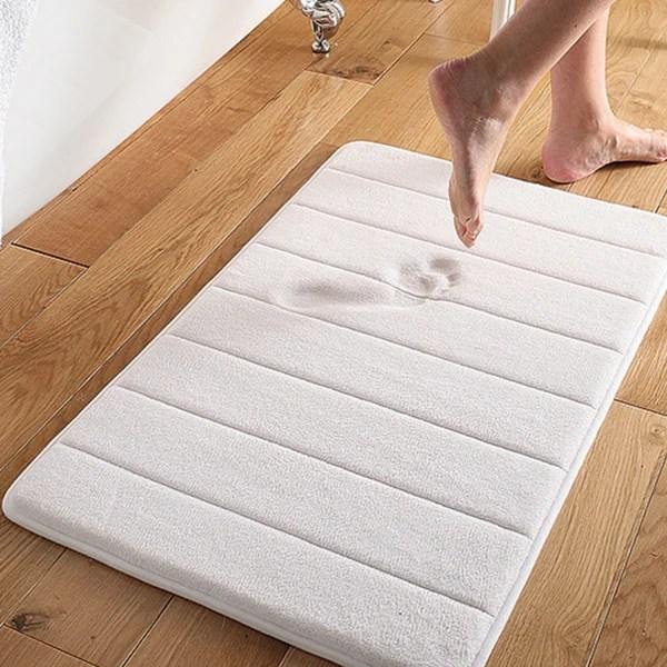 super soft and absorbent memory foam 21x34 bath mat - 21 x 34
