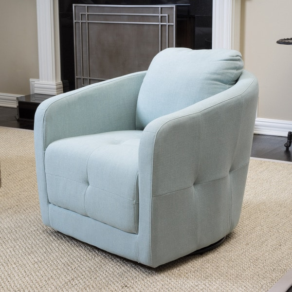 Christopher Knight Home Concordia Fabric Swivel Chair