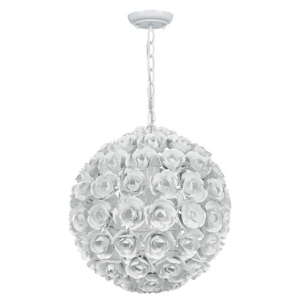 Crystorama Cypress Collection 1 Light Wet White Mini Chandelier
