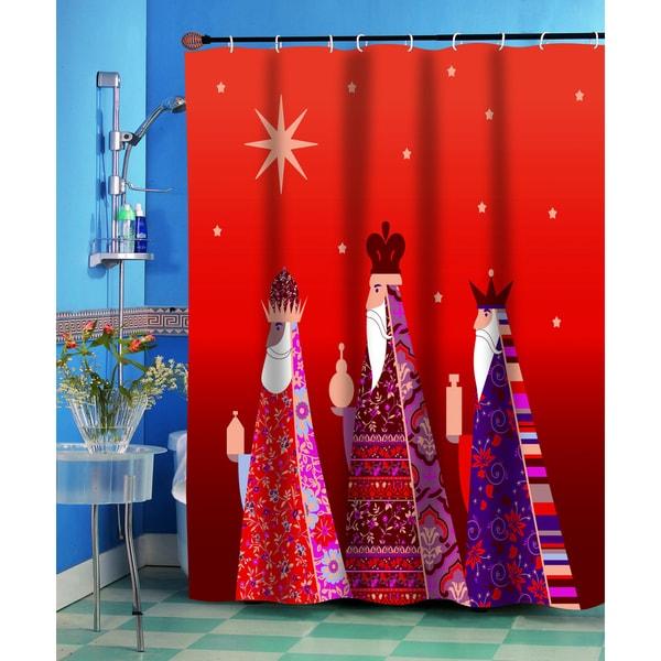 Shop Three Kings Christmas Themed Holiday Fabric Shower