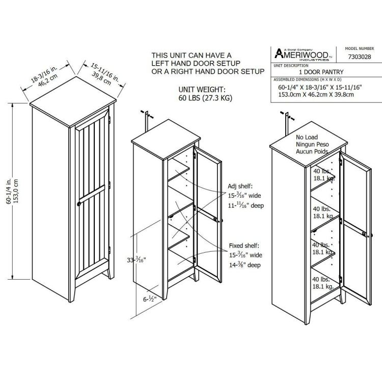 Systembuild Single Door Storage Pantry Cabinet On Sale Overstock 11020933