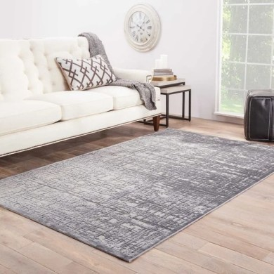 Shop Echo Abstract Gray  Silver Area Rug  5  X 7 6     5  x 7 6   On     Echo Abstract Gray  Silver Area Rug  5  x27  X 7  x27