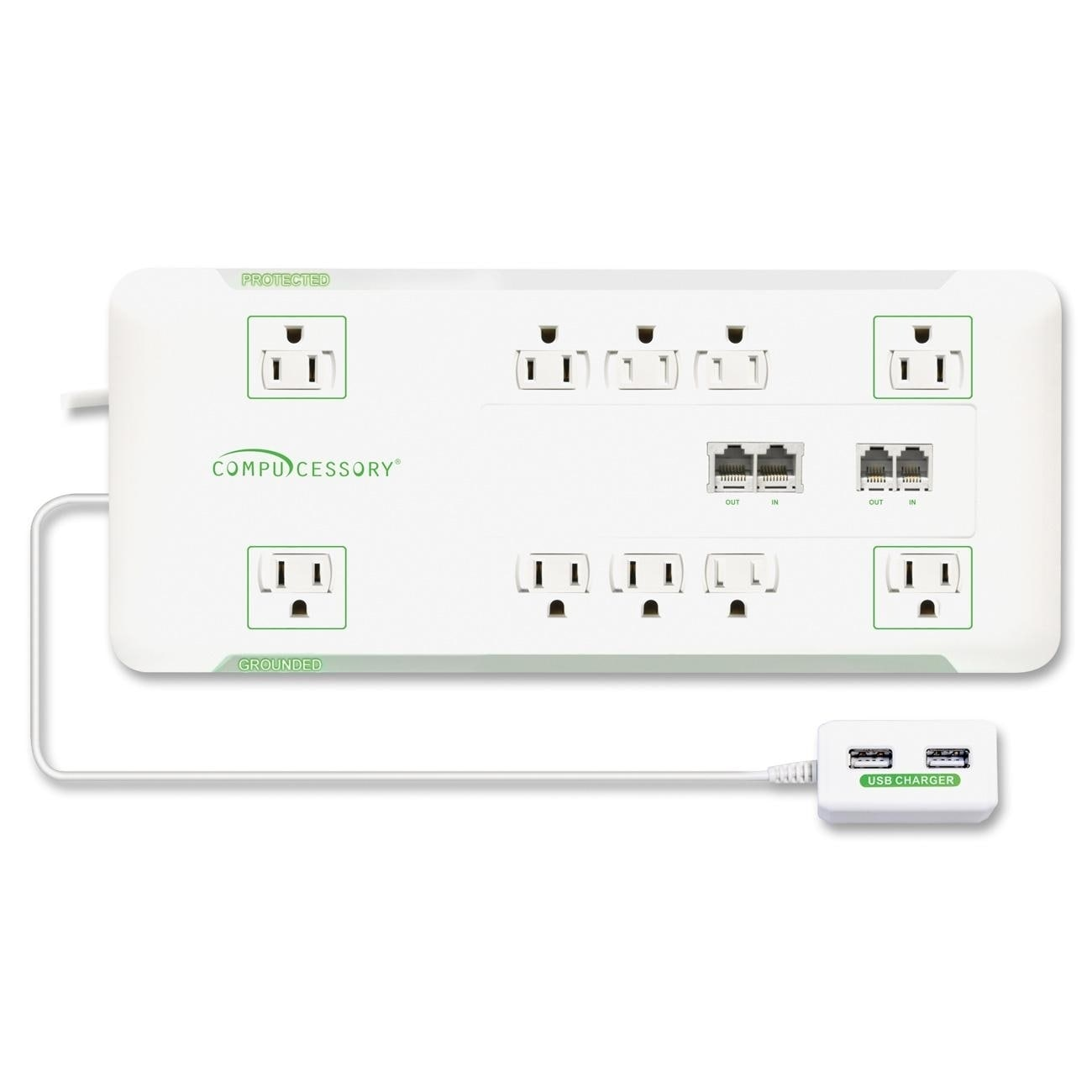 Compucessory Slim 10 Outlet Surge Block Protector