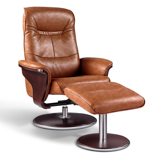 Shop Artiva USA Milano Modern Bend Wood Brown Leather