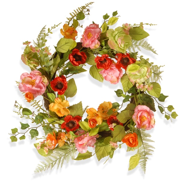 Shop National Tree Company Spring Flower 22 Inch Wreath