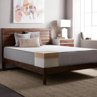 Select Luxury E C O 12 Inch Queen Size Latex And Memory Foam Mattress Option