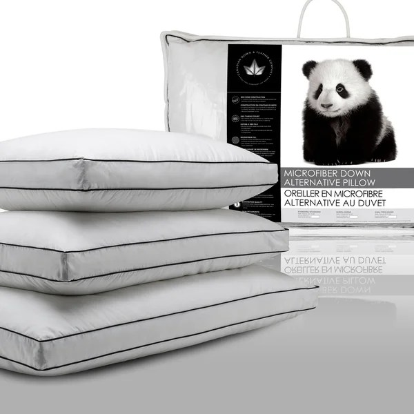 canadian down amp feather company microfiber down alternative pillow set