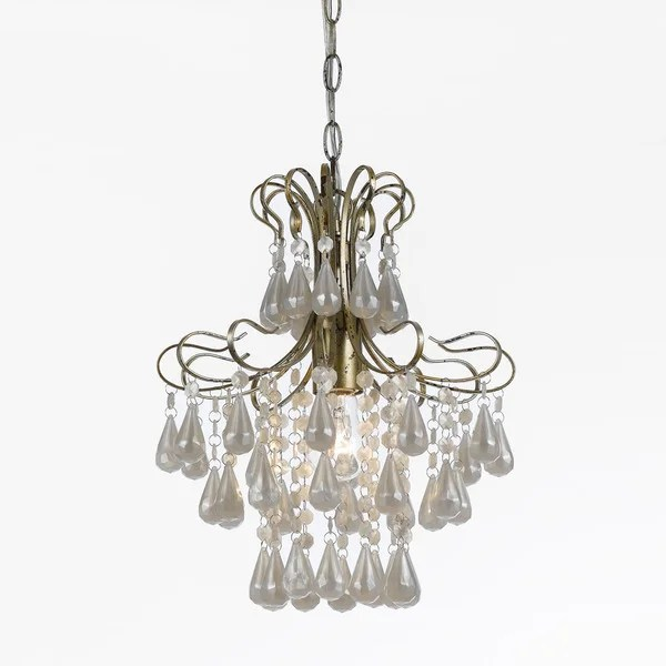 Af Lighting 8693 1h Tiffany Style Mini White Pearl Chandelier