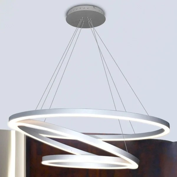 Vonn Lighting Vmc32500al Tania Trio 32 Inches Led Adjule Hanging Light Modern Silver Circular Chandelier