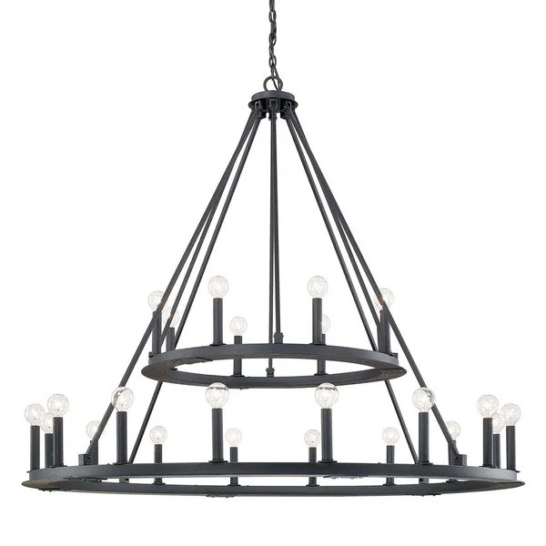 Capital Lighting Pearson Collection 24 Light Black Iron Chandelier