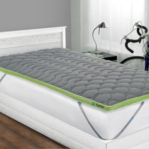 Bedgear Fusion Dri Tec 2 Inch Twin Xl Size Latex Mattress