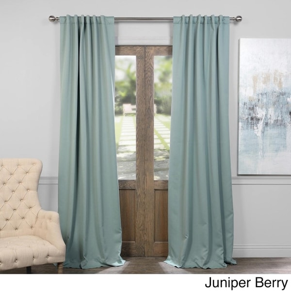 Shop Exclusive Fabrics Thermal Insulated Solid Blackout 108 Inch Curtain Panel Pair On Sale