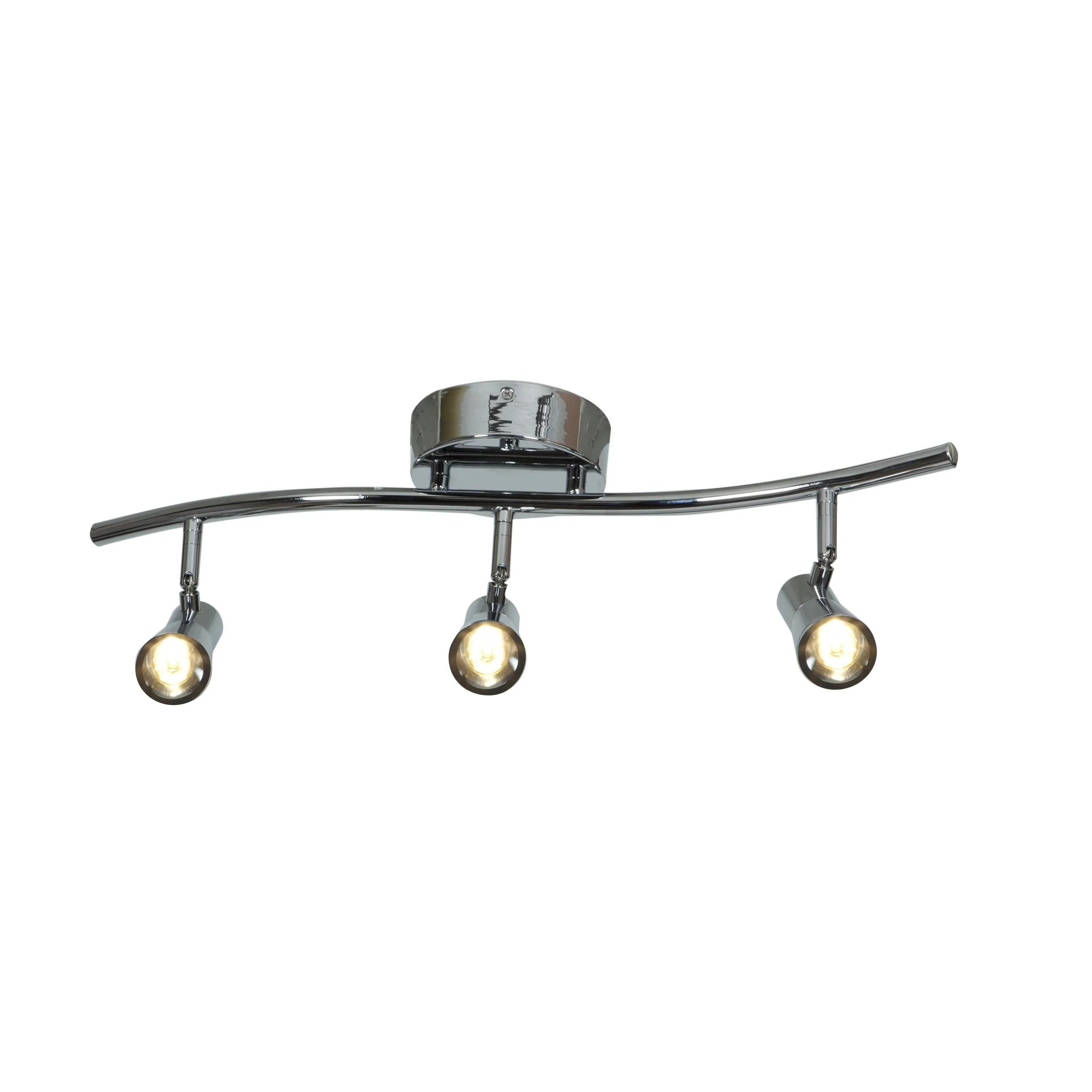 Access Lighting Sleek Steel 3 Light Led Spotlight Semi