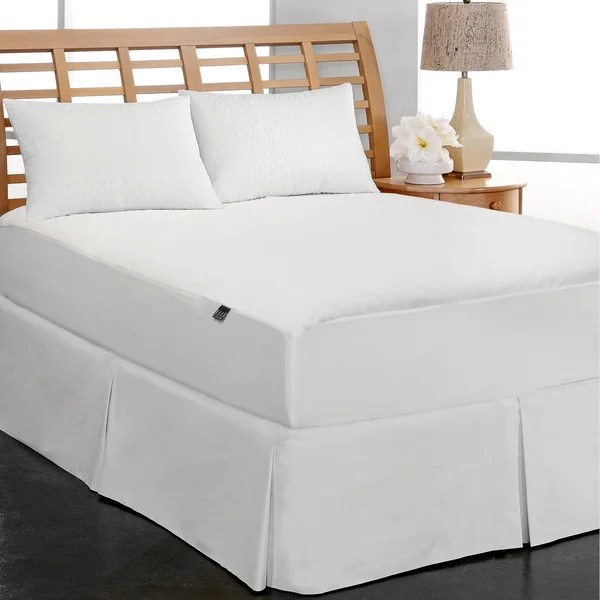 Elle C Fleece Waterproof Mattress Pad White