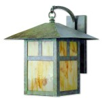 Livex Lighting Montclair Mission Green Patina Finish Brass 1 Light Hanging Outdoor Wall Lantern Overstock 12033310