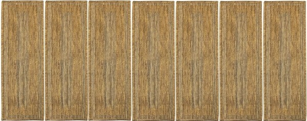Shop Ottomanson Jardin Collection Jute Back 9 Inch X 26 Inch | Indoor Outdoor Carpet Stair Treads | Rug | 26 Inch | Ottomanson Jardin | Walmart | Anti Slip Stair