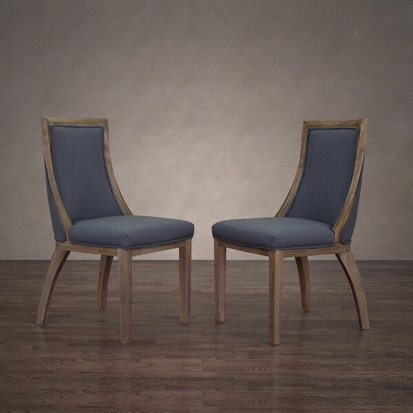 The Gray Barn Park Avenue Austria Navy Linen Dining Chair