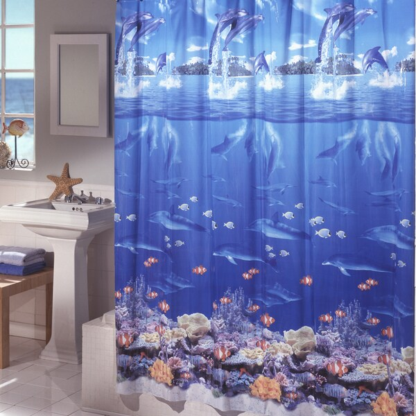 Shop Excell Sea Life Shower Curtain Multi Color Free Shipping On Orders Over 45 Overstock