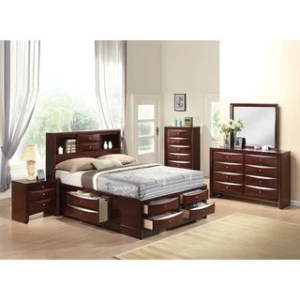 Buy Full Size Bedroom Sets Online at Overstock com   Our Best     Ireland Espresso 4 piece Storage Bedroom Set