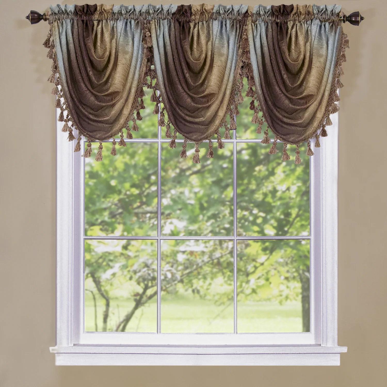 Achim Achim Ombre Window Curtain Waterfall Valance