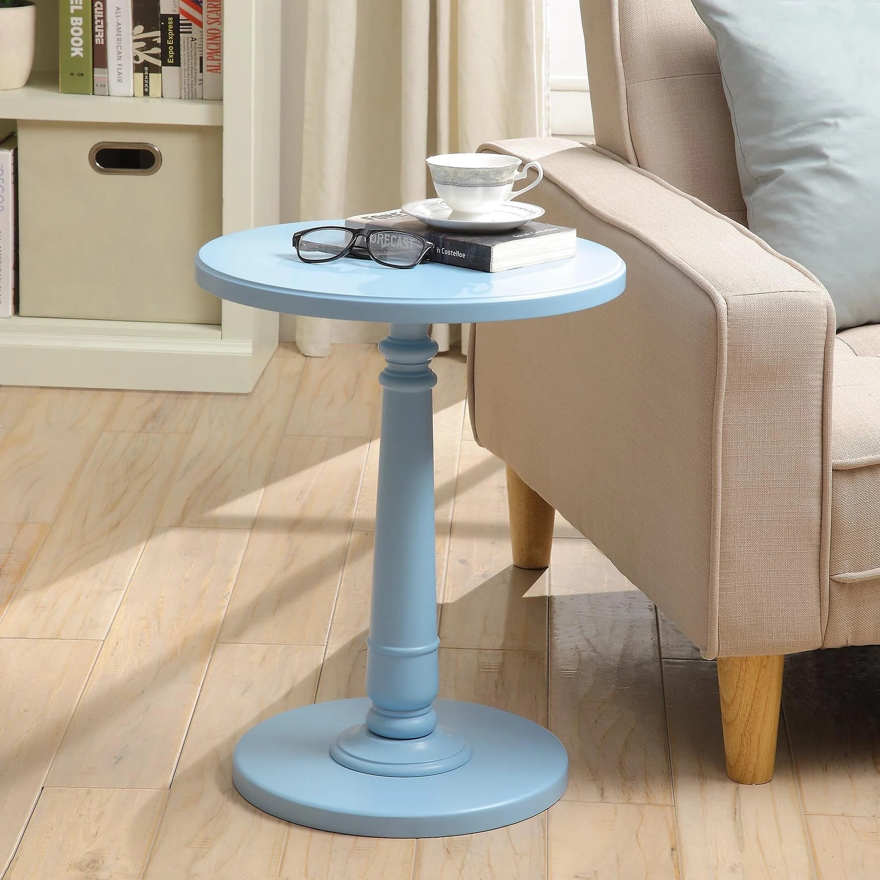 Shop Haley Accent Table In Baby Blue Overstock 12384042