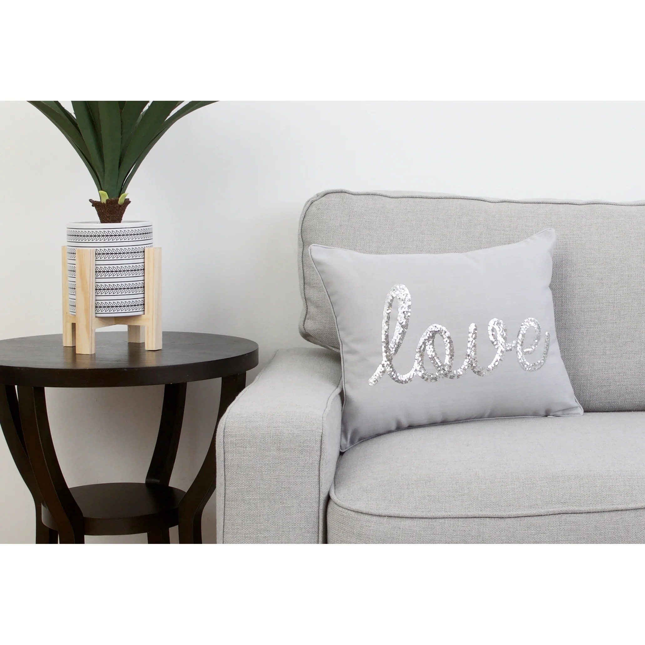 thro by marlo lorenz love sequined feather filled decorative throw pillow