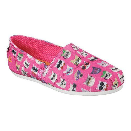 Womens Skechers BOBS Plush Kitty Smarts Alpargata Hot