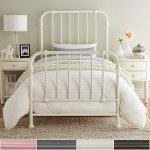Gulliver Vintage Antique Spiral Twin Iron Metal Bed By Inspire Q Bold Overstock 12504341