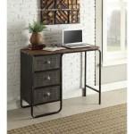 Carbon Loft Ogle Industrial Style 3 Drawer Desk Overstock 20010111