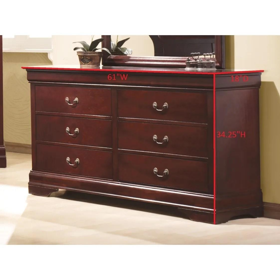 coaster company louis philippe cherry wood dresser
