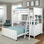 Lake House White Full Loft Bunk Bed With Full Lower Bed Overstock 12546839