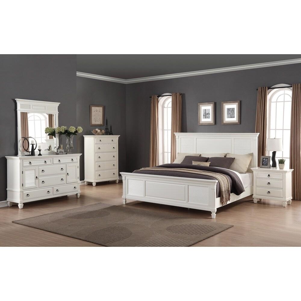 roundhilll furniture regitina white 5 piece queen size bedroom furniture set white queen 5 piece from overstock com daily mail