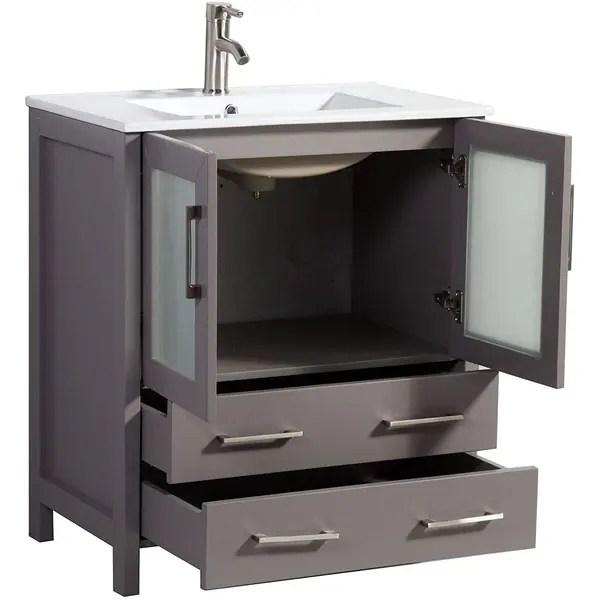 vanity art 30 in single sink bathroom