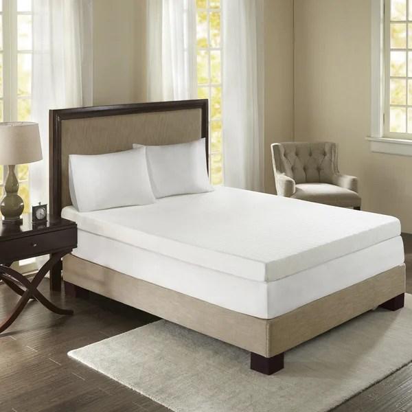 Sleep Philosophy Flexapedic 4 Inch Memory Foam Stain Resistant And Non Skid Backing Mattress