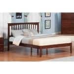 Shop Atlantic Mission Walnut Wood Queen Platform Bed On Sale Overstock 12777349